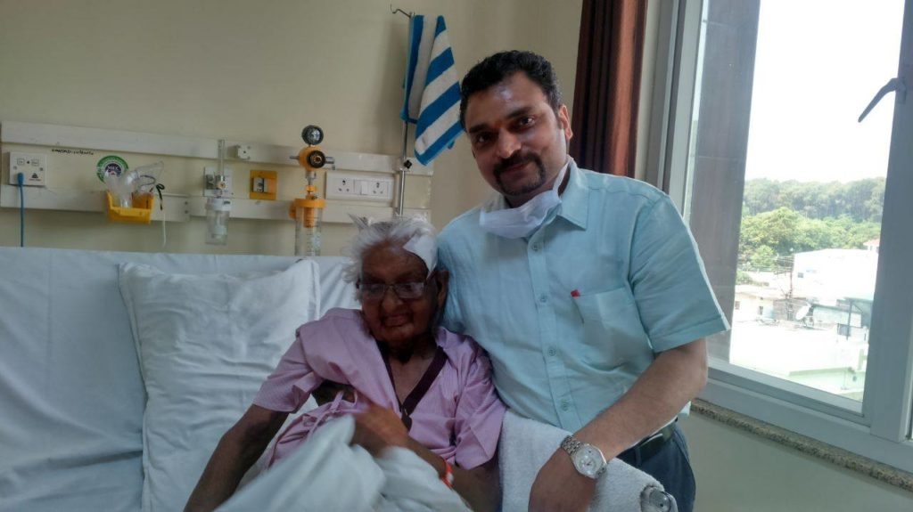 Dr. Charitesh Gupta with his Patient