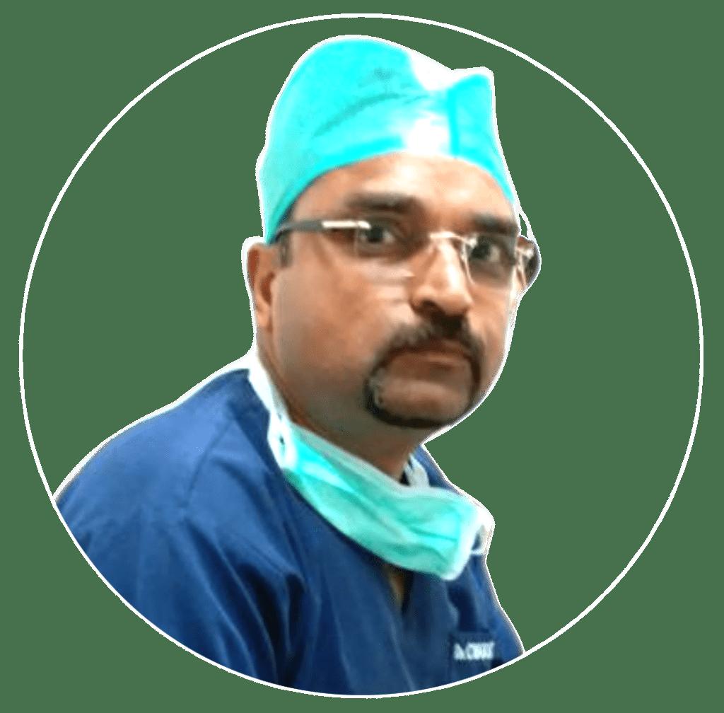 Dr. Charitesh Gupta wearing scrubs