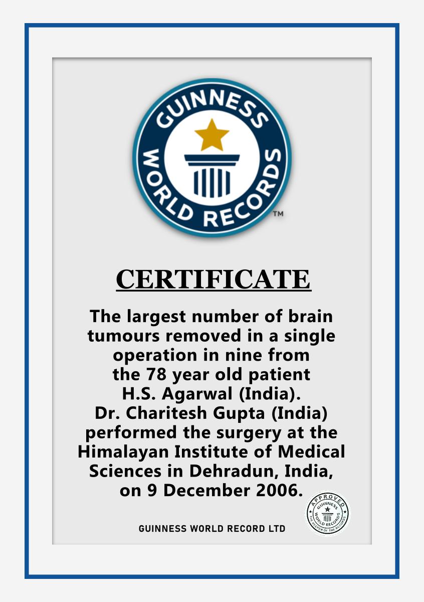 Guinness World Record Certificate Illustration