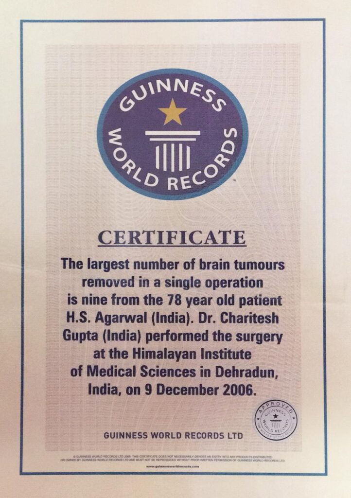 Guinness World Record Approved Certificate